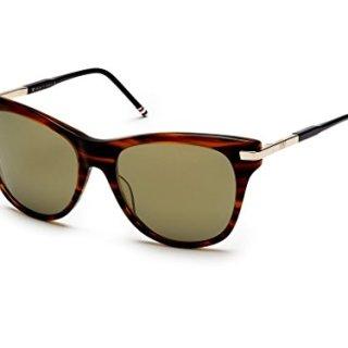 THOM BROWNE TB Walnut12k Gold w/G15Gold FlashAR Sunglasses