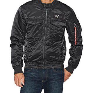 Alpha Industries Men's Weps Mod Jacket, Black, XX-Large