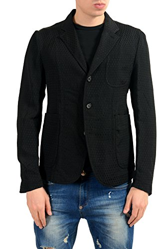 Alexander McQueen Men's Black Three Button Light Blazer Sport Coat