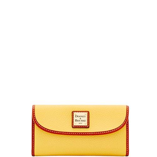 Dooney & Bourke Pebble Continental Wallet Lemon