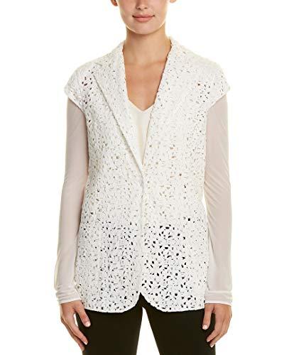 Akris Womens Silk-Trim Jacket, 8, White