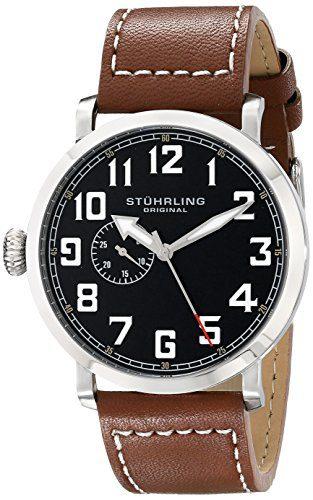 Stuhrling Original Men's Monterey Quartz Seconds Subdial Brown Watch