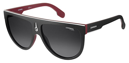 Carrera Men's Flagtops Round Sunglasses, Matte Black RED/Dark