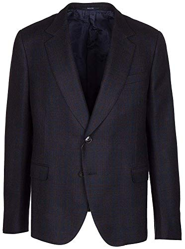 Gucci Men's Blue 100% Wool Two Button Jacket