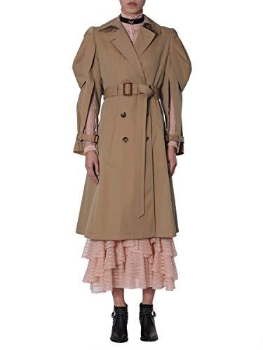Alexander McQueen Women's Beige Cotton Coat
