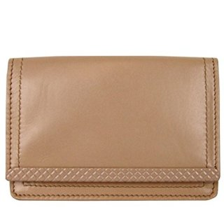 Bottega Veneta Coin Purse Peach Leather Card Holder Wallet