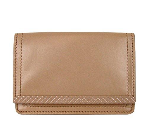 Bottega Veneta Coin Purse Peach Leather Card Holder Wallet