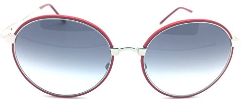 Cutler and Gross red Round Sunglasses