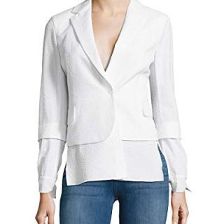 Akris Womens Stella Embossed Textured Jacket, 6 White