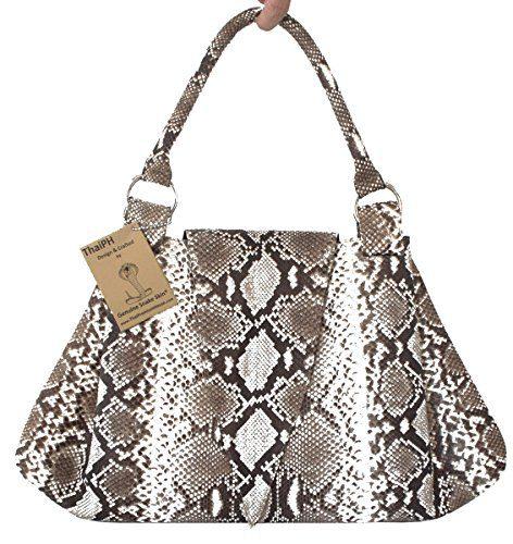 Authentic Snake Skin Women's Python Tote Hobo Bag Pyramid Handbag