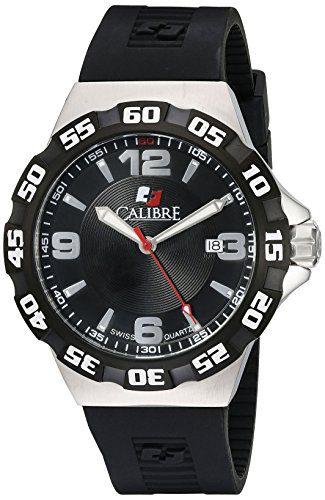 Calibre Men's Lancer Analog Display Quartz Black Watch