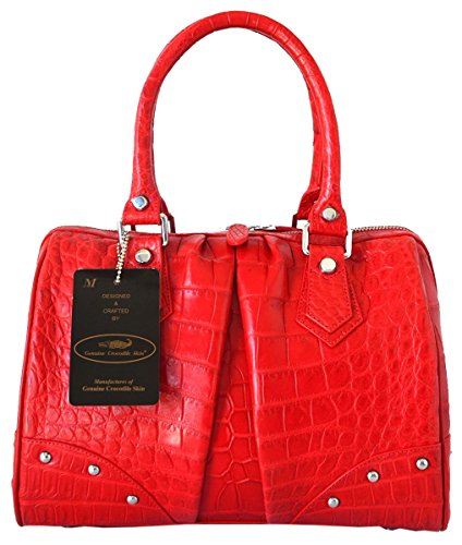 Authentic M Crocodile Skin Womens Belly Leather Clutch Bag