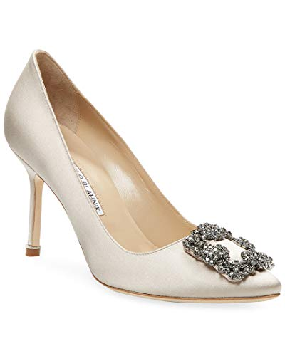 Manolo Blahnik Hangisi Satin Pump, 36, Grey