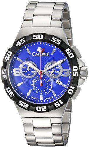 Calibre Men's Lancer Analog Display Quartz Silver Watch