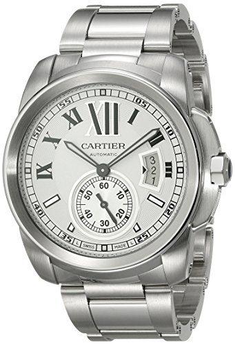 Cartier Men's Calibre de Cartier Silver-Tone Stainless Steel