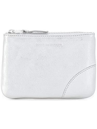 Comme Des Garçons Women's Silver Leather Wallet
