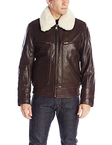 Marc New York by Andrew Marc Men's Carmine Rugged Lamb Aviator Bomber