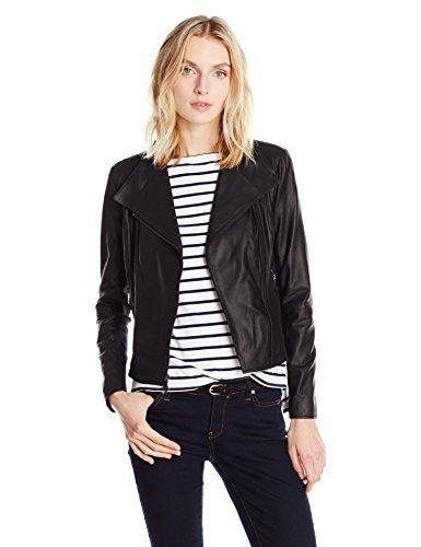 Marc New York by Andrew Marc Women's Felix Asymmetric Leather Jacket