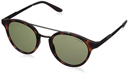 Carrera Round Sunglasses, Havana Dark Ruthenium/Green, 49 mm