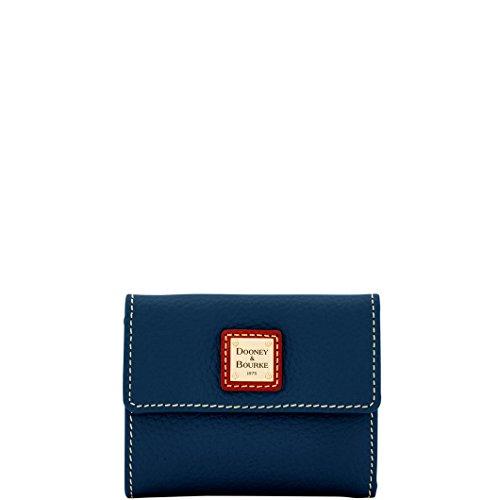 Dooney & Bourke Pebble Grain Small Flap Wallet Midnight Blue