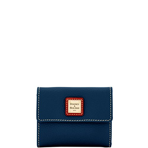 Dooney & Bourke Pebble Grain Small Flap Wallet Midnight Blue