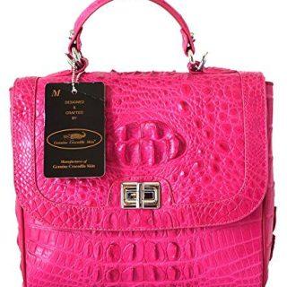 Authentic M Crocodile Skin Womens Hornback Leather W/Strap Clutch