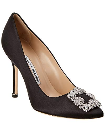 Manolo Blahnik Hangisi Satin Pump, 38, Black