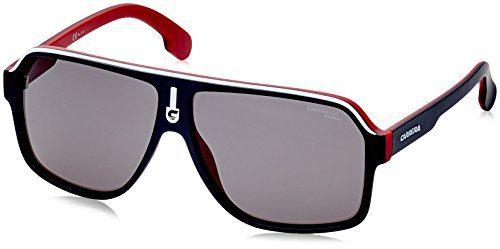 Carrera Men's 1001/s Polarized Aviator Sunglasses, Matte Black RED, 62 mm