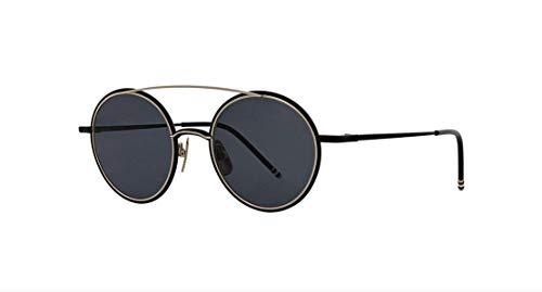 Sunglasses THOM BROWNE Black Iron-12K Gold w/Dark Grey AR