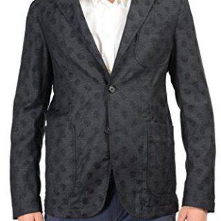 Alexander McQueen 100% Wool Gray Skull Patterned Men's Blazer
