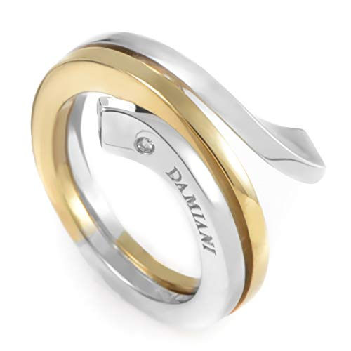 Damiani Eden 18K Yellow and White Gold Diamond Spiral Ring