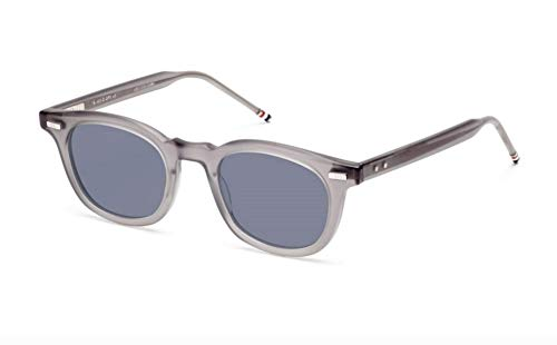 THOM BROWNE Sunglasses Satin Grey Crystal/Dark Grey-AR 46mm