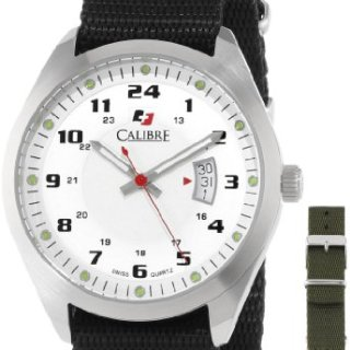Calibre Men's Trooper Stainless Steel Interchangeable Black/Green