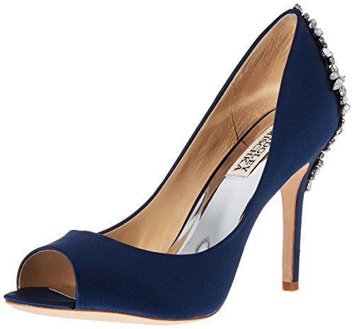 Badgley Mischka Women's Nilla Dress Pump, Navy, 7.5 M US