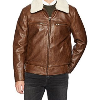 Marc New York by Andrew Marc Men's Amherst Distressed Faux Leather