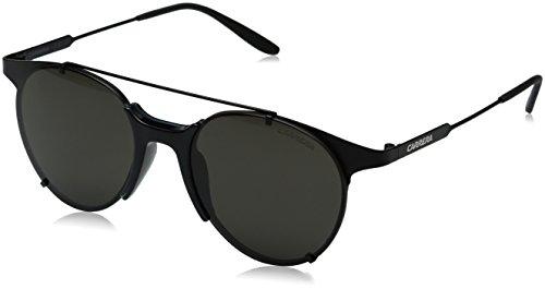 Carrera Men's Round Sunglasses, Matte Black/Brown Gray, 52 mm