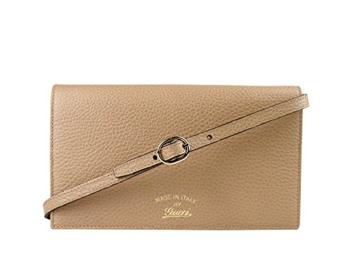 Gucci Swing Tan Leather Crossbody Clutch Wallet