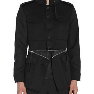 Alexander McQueen Men's Black Wool Outerwear Jacket