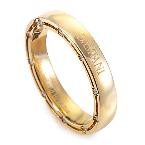 Damiani D.Side Brad Pitt 18K Yellow Gold 20 Diamonds Band Ring