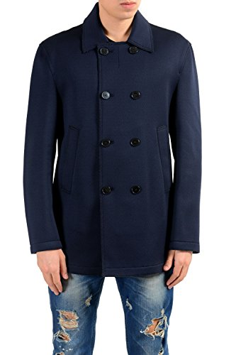 Versace Collection Men's Double Breasted Blue Blazer Sport Coat
