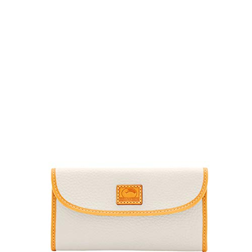 Dooney & Bourke Patterson Pebble Leather Continental Clutch Bone