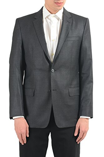 Versace Collection Men's Wool Gray Two Button Blazer Sport Coat