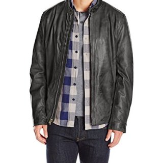 Marc New York by Andrew Marc Men's Rhinecliff Lightweight Calf Moto Jacket