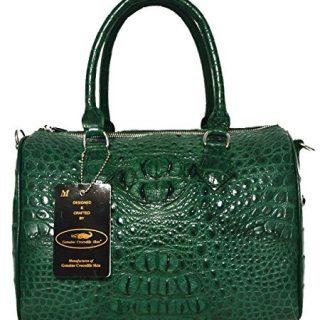 Authentic M Crocodile Skin Womens Shiny Leather Clutch Bag
