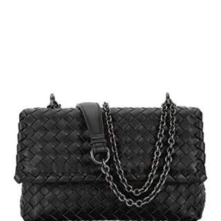 Bottega Veneta Baby Olimpia Intrecciato Leather Shoulder Bag made in Italy