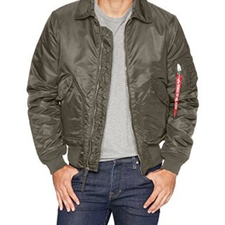 Alpha Industries Men's Slim FIT MID Length Zip Flight Jacket
