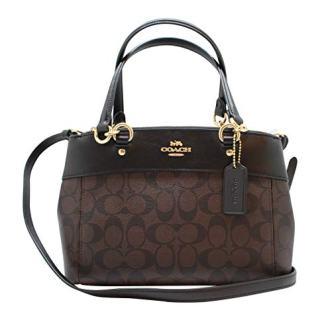 Coach Womens Mini Brooke Carryall Handbag, Signature Crossgrain Leather