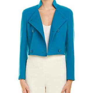 Akris Womens Wool Jacket, 10, Blue