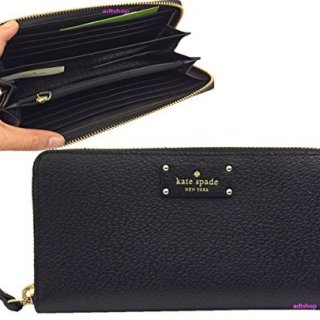 Kate Spade New York Wellesley Neda Zip-Around Wallet (Black)
