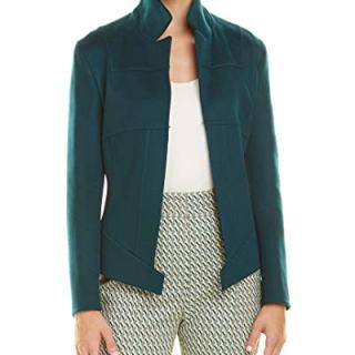 Akris Womens Cashmere Jacket, 10, Blue